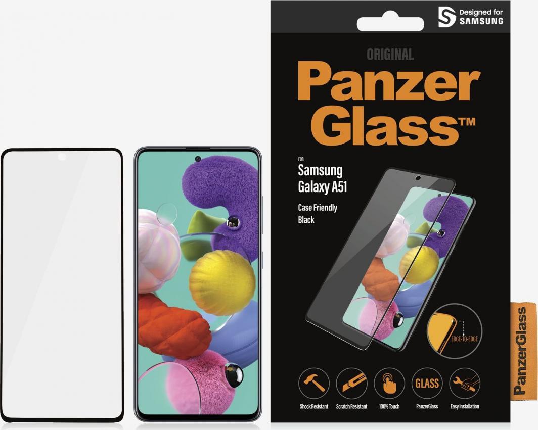PanzerGlass Szkło hartowane do Samsung Galaxy A51 Case Friendly Black (7216) 1