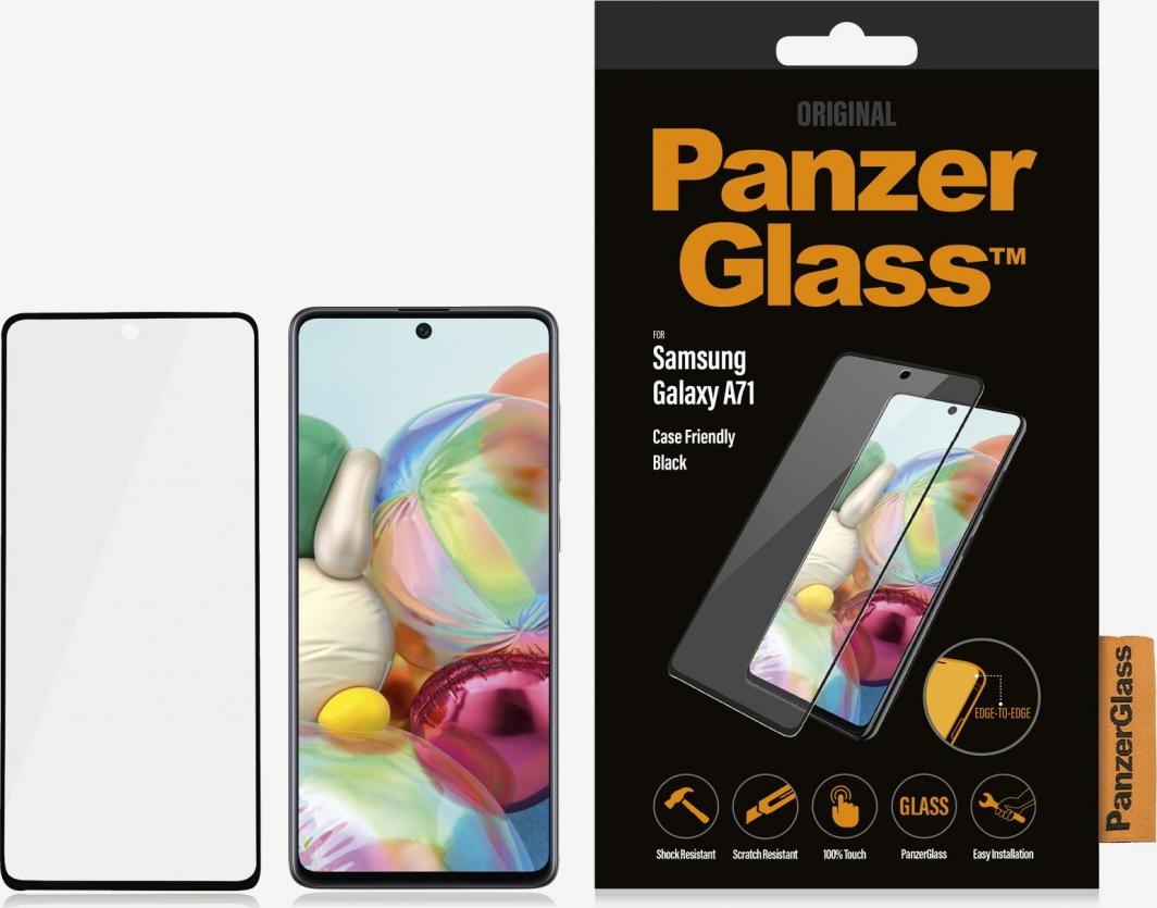 PanzerGlass Szkło hartowane do Samsung Galaxy A71 Case Friendly Black (7212) 1