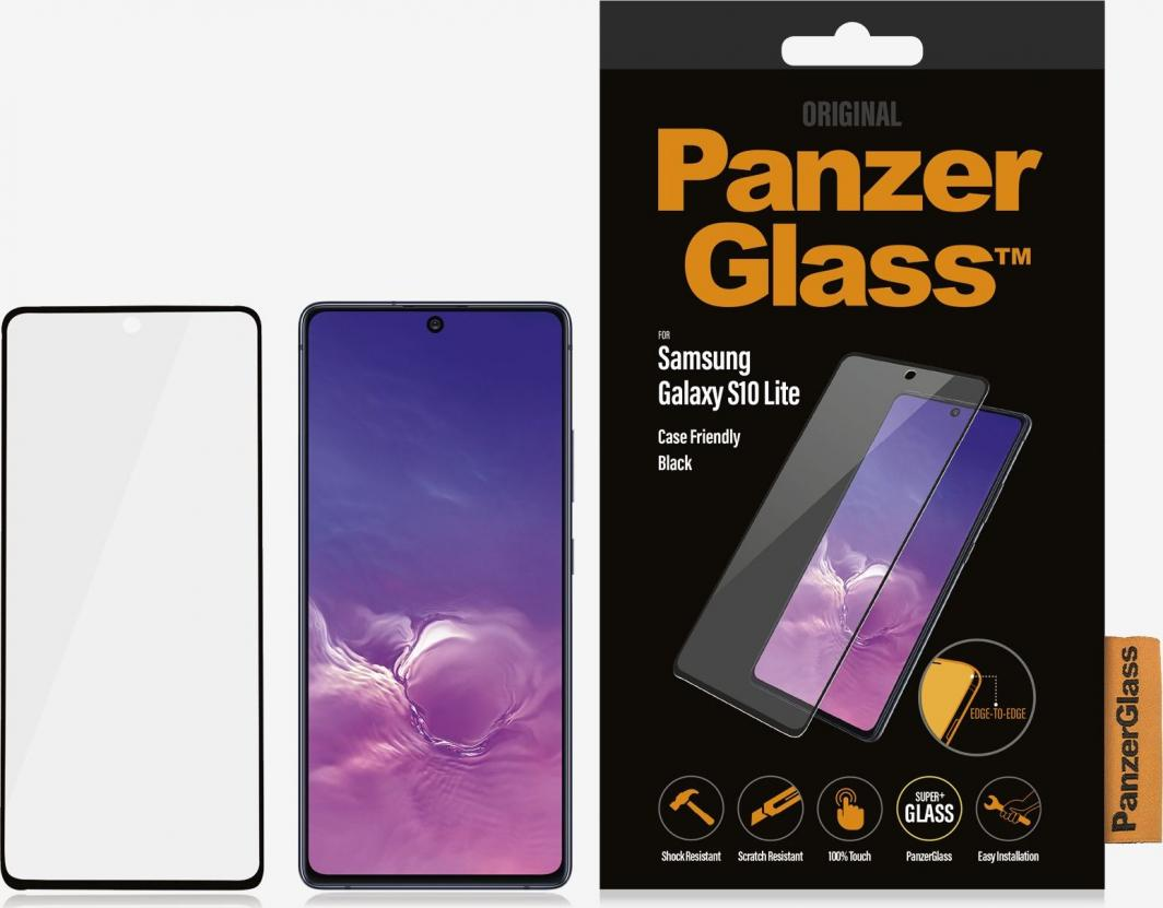 PanzerGlass Szkło hartowane do Samsung Galaxy S10 Lite Case Friendly Black (7210) 1