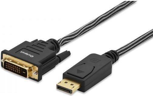 Kabel Ednet DisplayPort - DVI-D 2m czarny (84502) 1