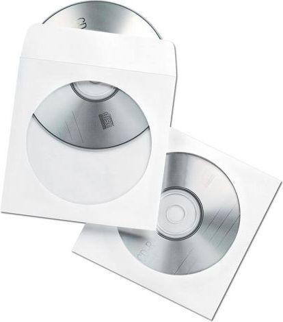 Fellowes koperty papierowe na CD DVD 50 szt. Białe (90690) 1