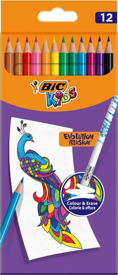 Bic Kredki ołówkowe Kids Evolution Illusion 12 kol BIC 1