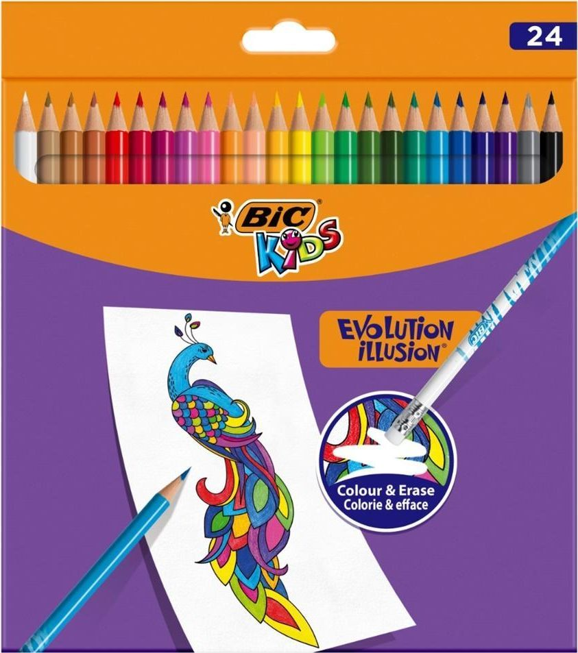 Bic Kredki ołówkowe Kids Evolution Illusion 24 kol BIC 1