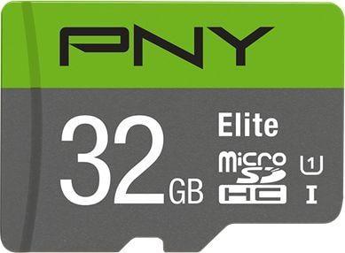 Karta PNY Technologies Elite MicroSDHC 32 GB Class 10 UHS-I/U1  (P-SDU32GU185GW-GE) 1