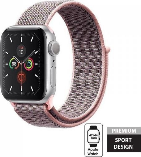 Crong Crong Nylon Band - Pasek sportowy Apple Watch 42/44 mm (Light Pink) 1