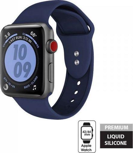 Crong Crong Liquid Band - Pasek Apple Watch 42/44 mm (granatowy) 1