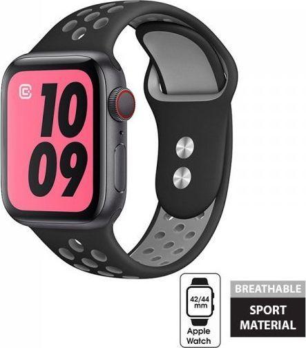 Crong Crong Duo Sport Band - Pasek Apple Watch 42/44 mm (szary/czarny) 1