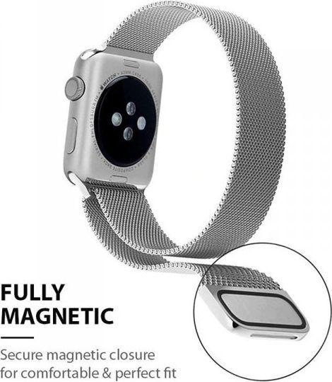 Crong Crong Milano Steel - Pasek ze stali nierdzewnej Apple Watch 42/44 mm (srebrny) 1