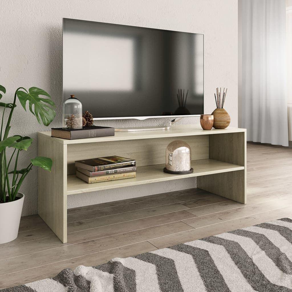 vidaXL Szafka pod TV, dąb sonoma, 100 x 40 x 40 cm, płyta wiórowa 1