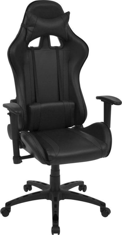 vidaXL Rozkładane krzesło biurowe, sportowe, sztuczna skóra, czarne 1