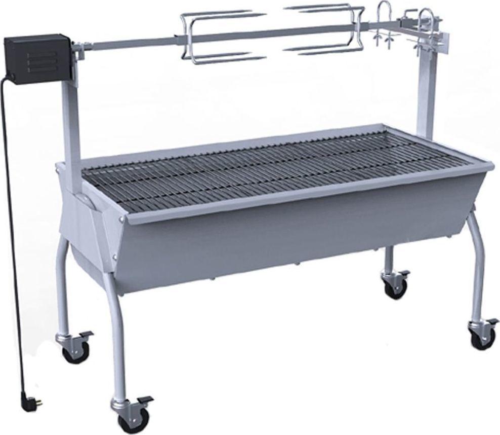 vidaXL Grill do pieczenia z rożnem i silnikiem elektrycznym 1