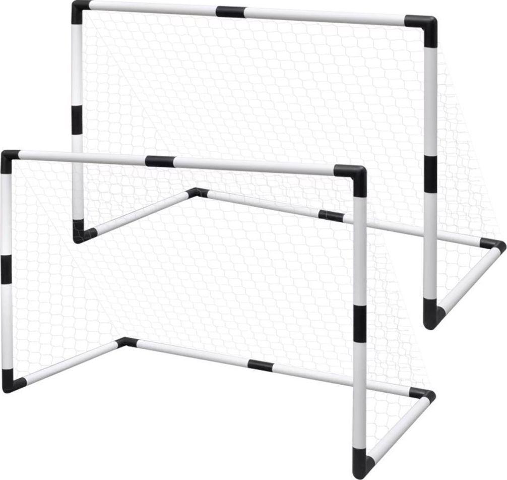 vidaXL Bramki do mini piłki nożnej, 2 szt., 91,5 x 48 x 61 cm 1