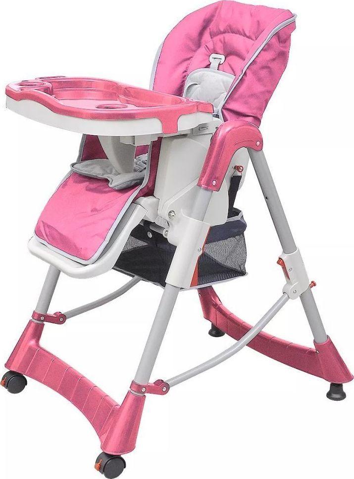 vidaXL Krzesełko do karmienia różowe ID produktu: 6579029