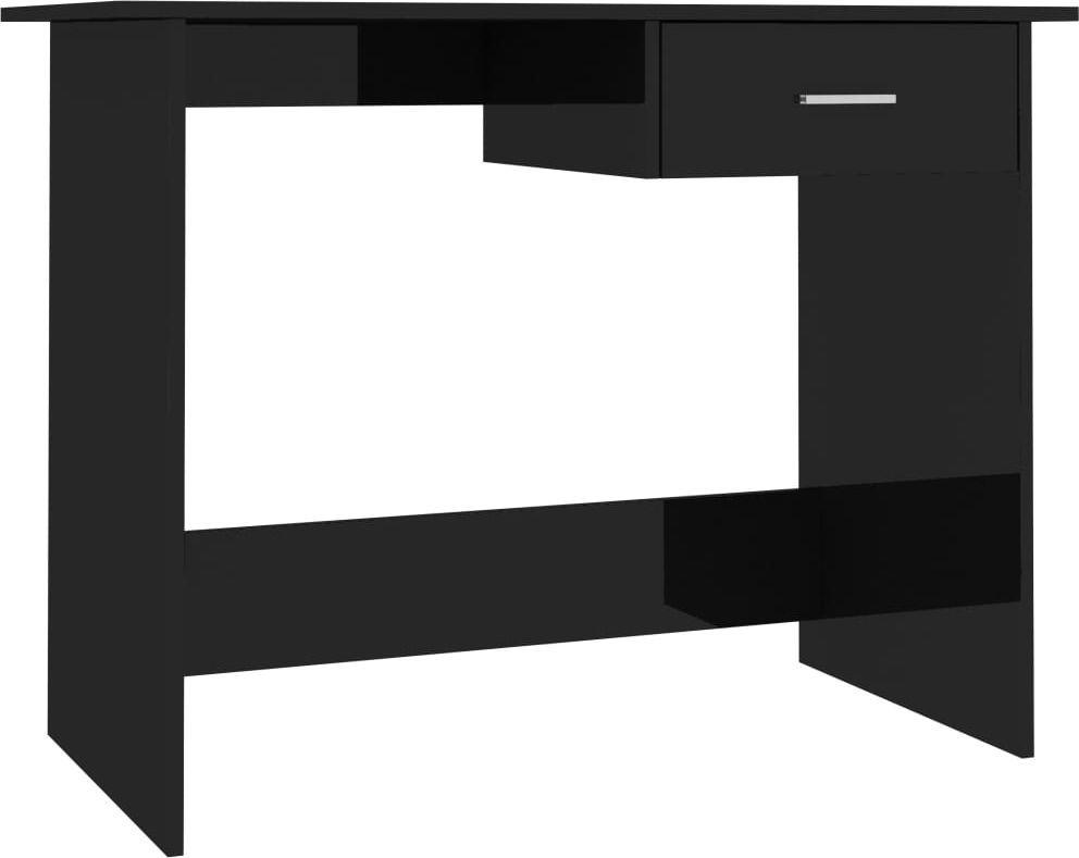 Biurko vidaXL z szufladą wysoki połysk 100x50x76 1