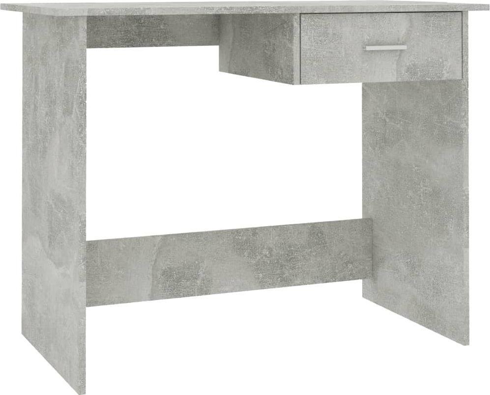 Biurko vidaXL szarość betonu 100x50x76 (800553) 1