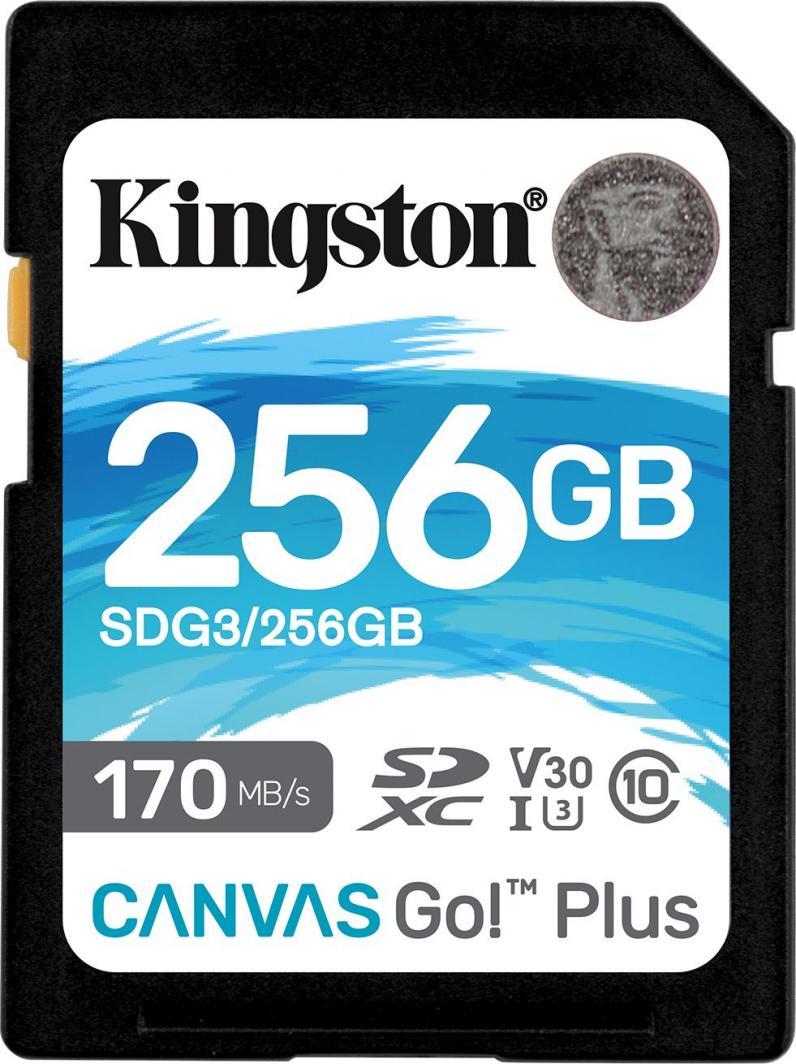 Karta Kingston Canvas Go! Plus SDXC 256 GB Class 10 UHS-I/U3 V30 (SDG3/256GB) 1