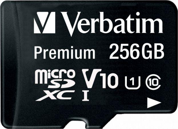 Karta Verbatim Premium MicroSDXC 256 GB Class 10 UHS-I/U1 V10 (44087) 1