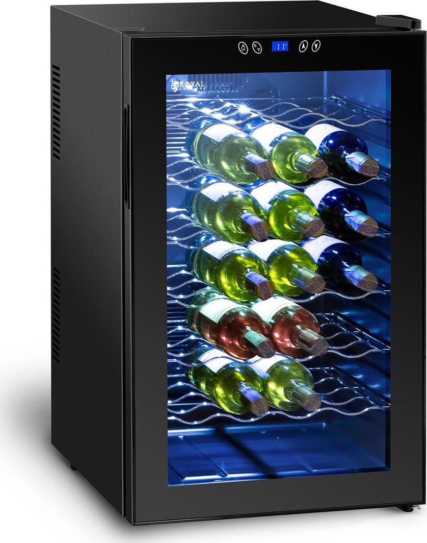 Chłodziarka do wina Royal Catering Lodówka chłodziarka do wina na 28 butelek 80L 1
