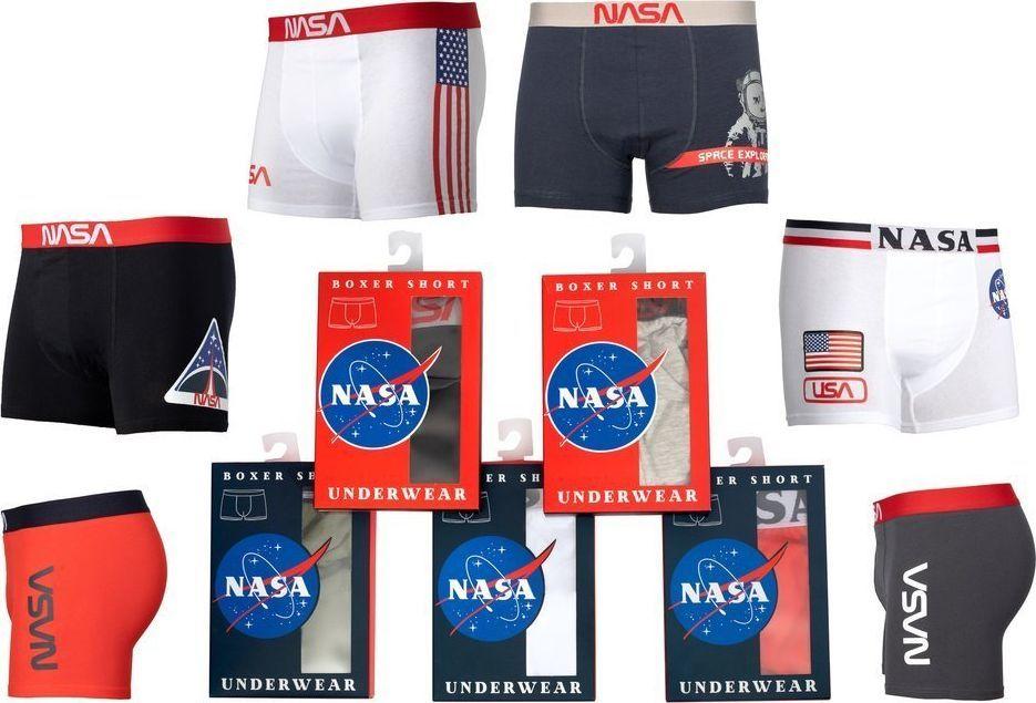NASA Bokserki męskie Boxer Basic-Stripe Red r. M 1