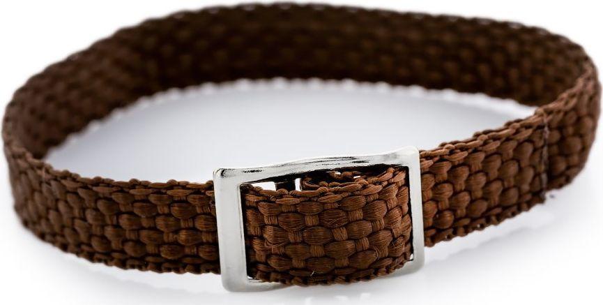 Pasek parciany do zegarka - brązowy - 12mm uniwersalny 1