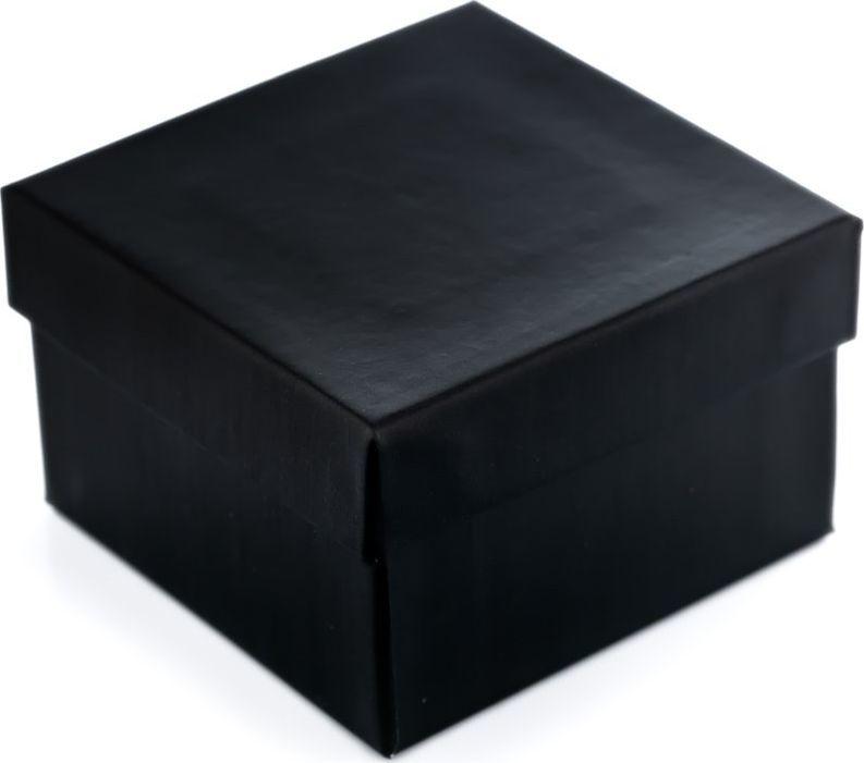 Prezentowe pudełko na zegarek - czarne uniwersalny 1