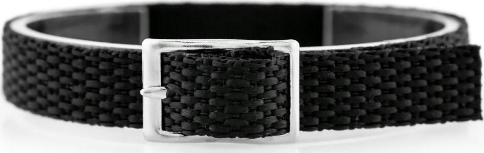 Pasek parciany do zegarka - czarny - 12mm uniwersalny 1