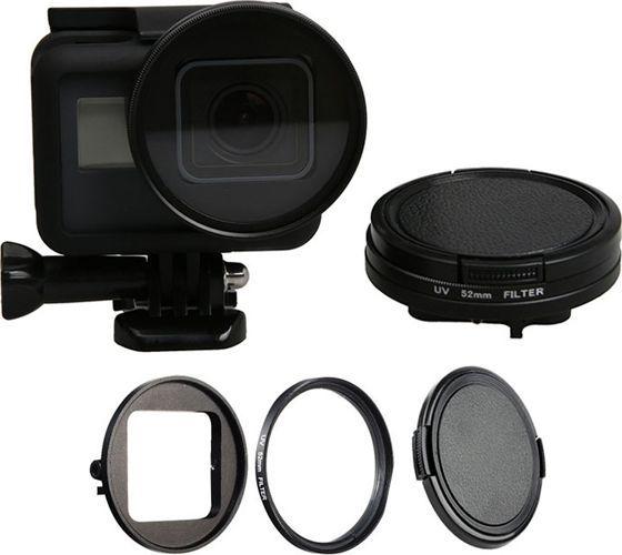 Filtr Xrec ADAPTER 52mm + FILTR UV + DEKIELEK / ZESTAW do GoPro HERO 5 / 6 / 7 BLACK 1