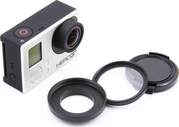 Filtr Xrec Zestaw ochronny 3w1 (Adapter 37mm / Filtr UV / Dekielek) do GoPro HERO 4 3+ 3 1