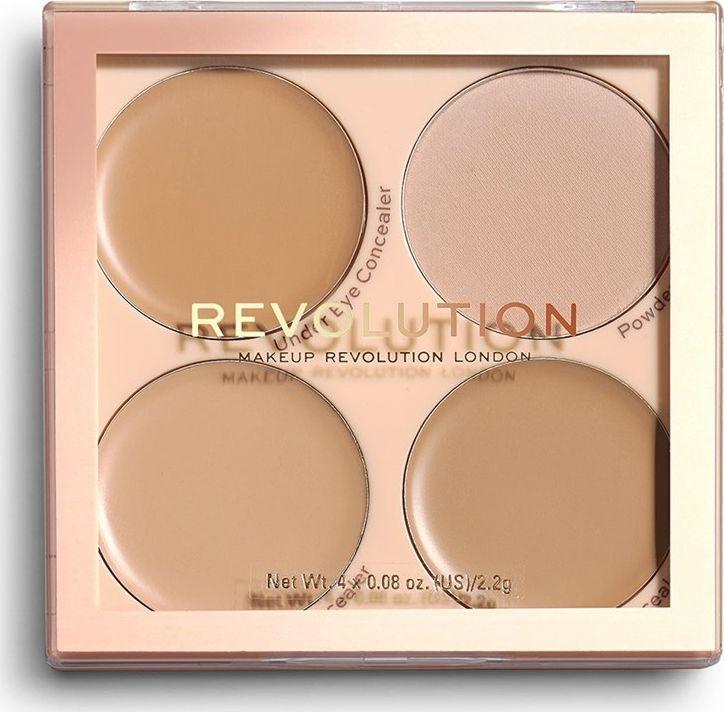 Makeup Revolution Matte Base paleta korektorów C5-C8 1