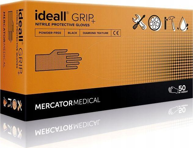 Mercator Medical rękawice ochronne ideall grip + black rozm XXL RD30233006 1