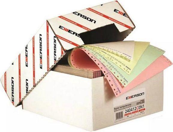 """Emerson Papier do drukarki igłowej 4-warstwowy 240x12"""" mix kolorów 450 arkuszy 1"""
