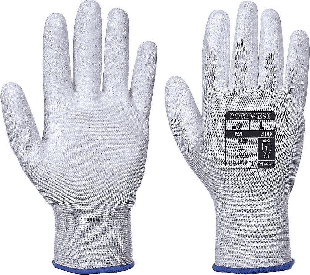 Portwest rękawice antystatyczne pokrywane PU rozmiar M (PP0562) 1