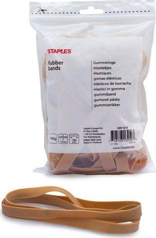 Staples STAPLES Gumki recepturki 1,2cmx18cm 100g 1