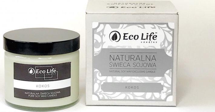 Eco Life Eco Life, Świeca sojowa Kokos 1