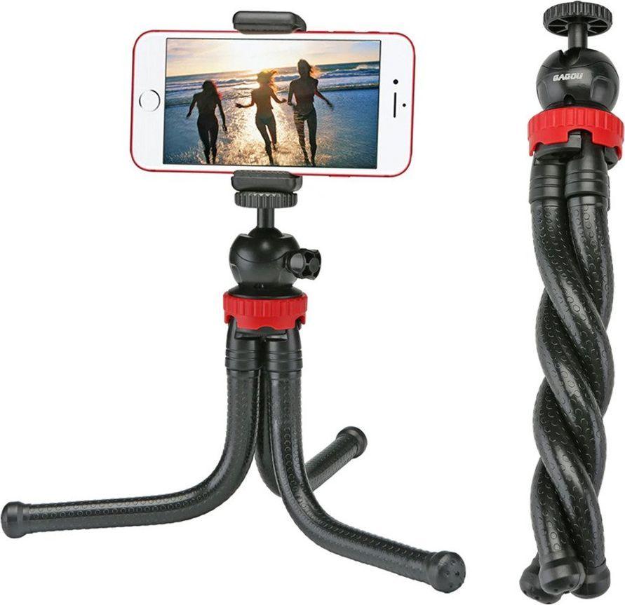 Selfie stick Tripod Flexible Black 1
