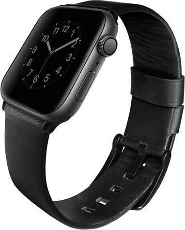 Uniq UNIQ pasek Mondain Apple Watch Series 4 44MM Geniune Leather czarny/midnight black 1