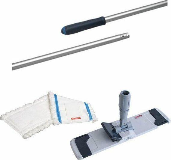 Vileda Zestaw Uchwyt do mopa Combi Speed 40cm +3 x Wkład do mopa płaskiego Microspeed + Kij 145cm Vileda Professional 1