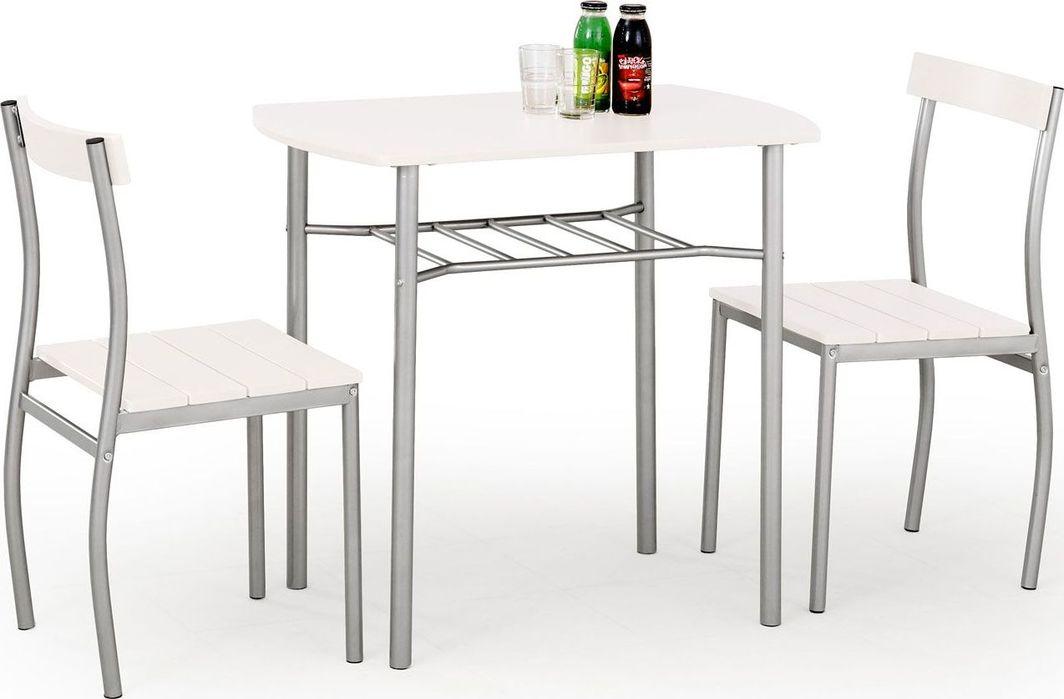 Profeos Stół z krzesłami Twiner - biały 1