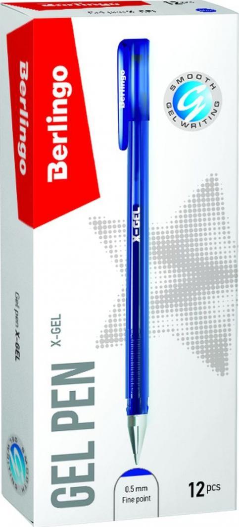 Berlingo Długopis Żelowy X-gel 0,5mm Niebieski (243035) 1