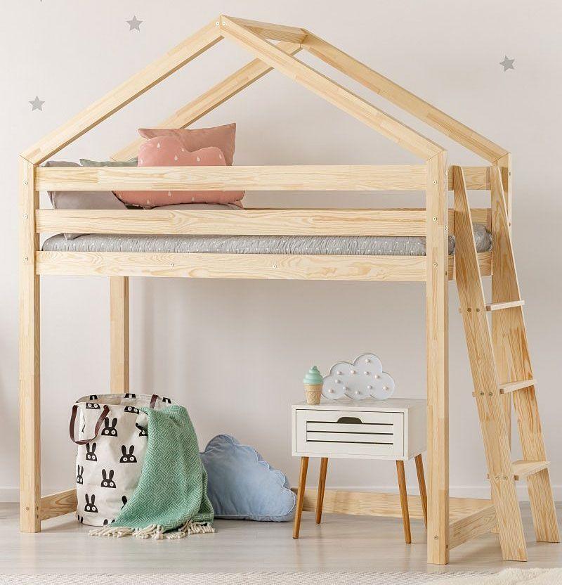 Elior Piętrowe łóżko domek Miles 9X - 12 rozmiarów 90x200cm 1