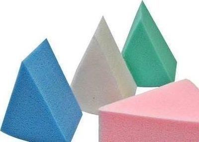 Beauty Tools Gąbki do podkładu 8szt. kolorowe trójkąty  1