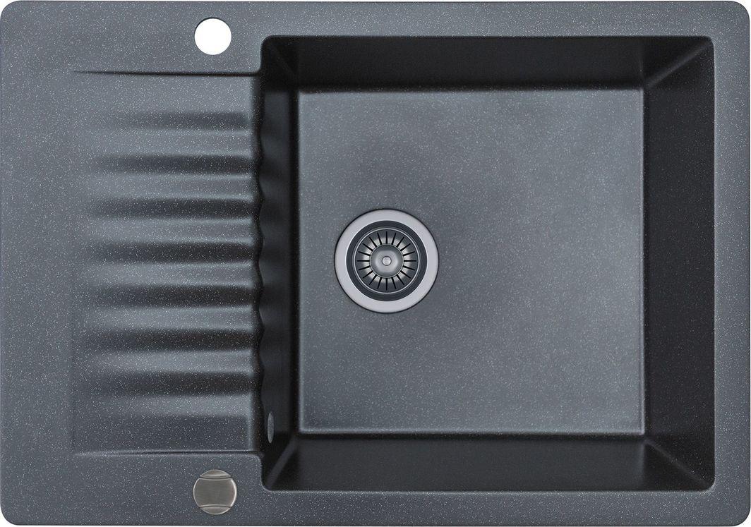 Kernau Zlewozmywak granitowy Kernau KGS F 6072 1B1D Black Metallic 1