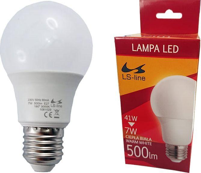 LS-LINE Żarówka LED E27 7W ciepła biała 1