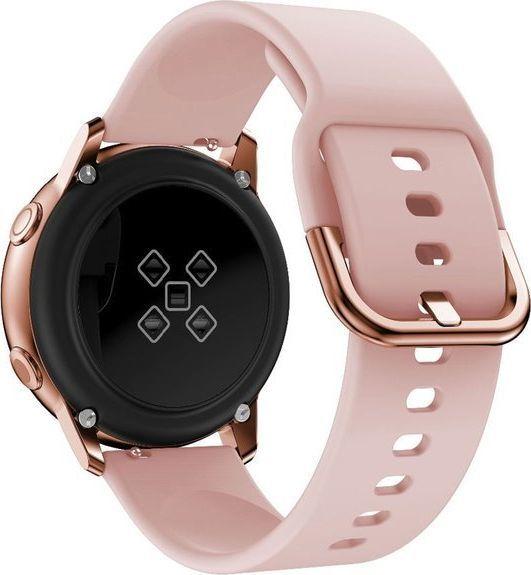 Alogy Pasek do Samsung Galaxy Watch Active 2 Alogy soft gumowy Różowy uniwersalny 1