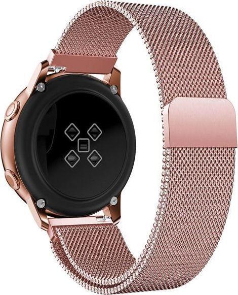 Alogy Milanese bransoleta pasek do Galaxy Watch Active 2 Alogy różowa uniwersalny 1