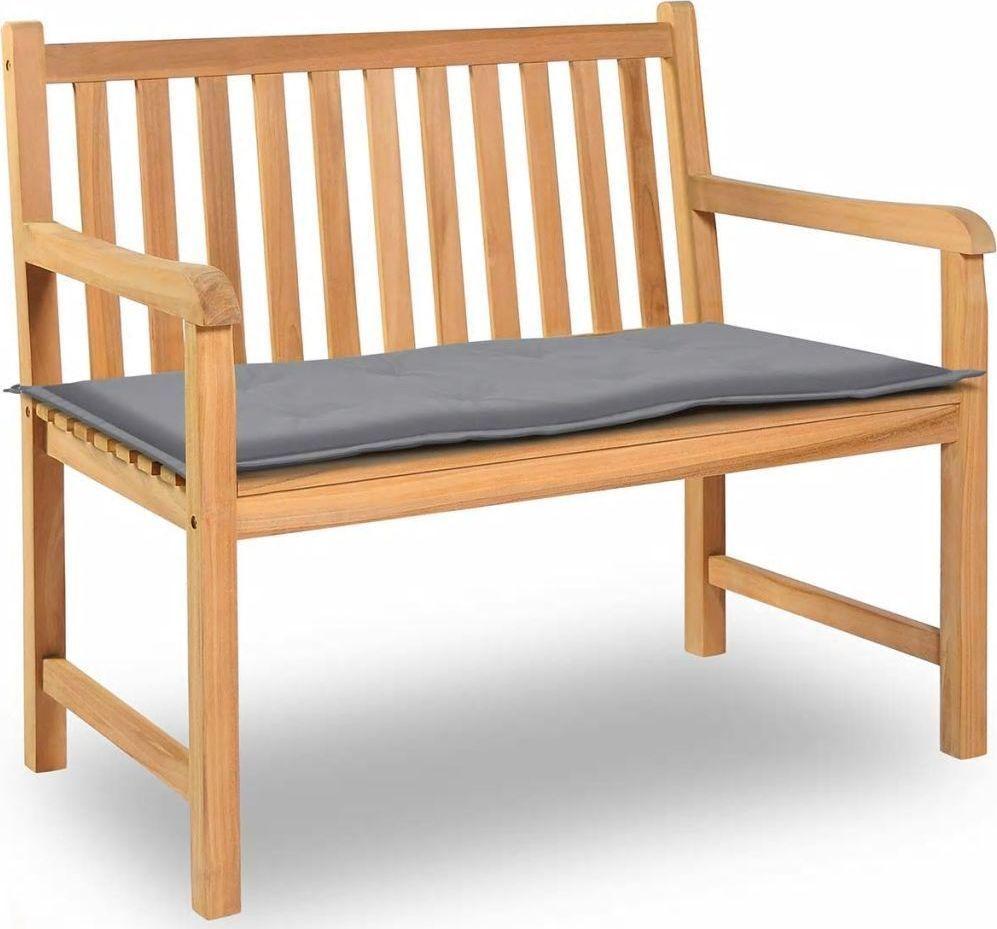 vidaXL Poduszka na ławkę ogrodową, szara, 100x50x3 cm 1