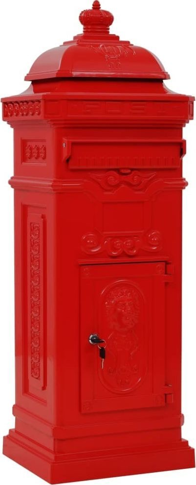 Vidaxl Stojąca Skrzynka Na Listy W Stylu Vintage Czerwona Nierdzewna W Budujesz Pl