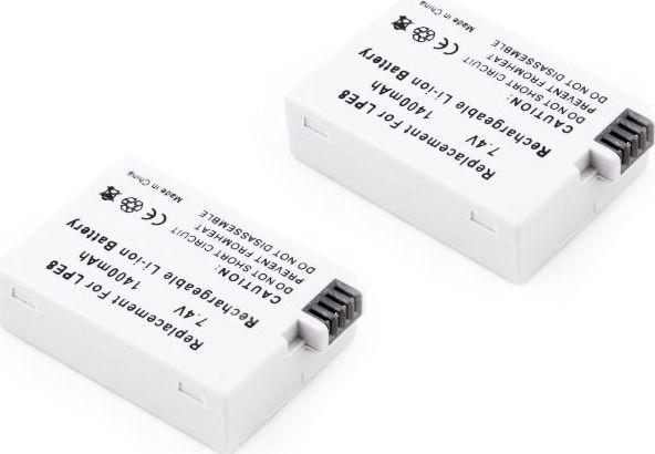 Akumulator Travor Zestaw 2x Akumulator LP-E8 do CANON EOS 700D 650D 600D 550D 1