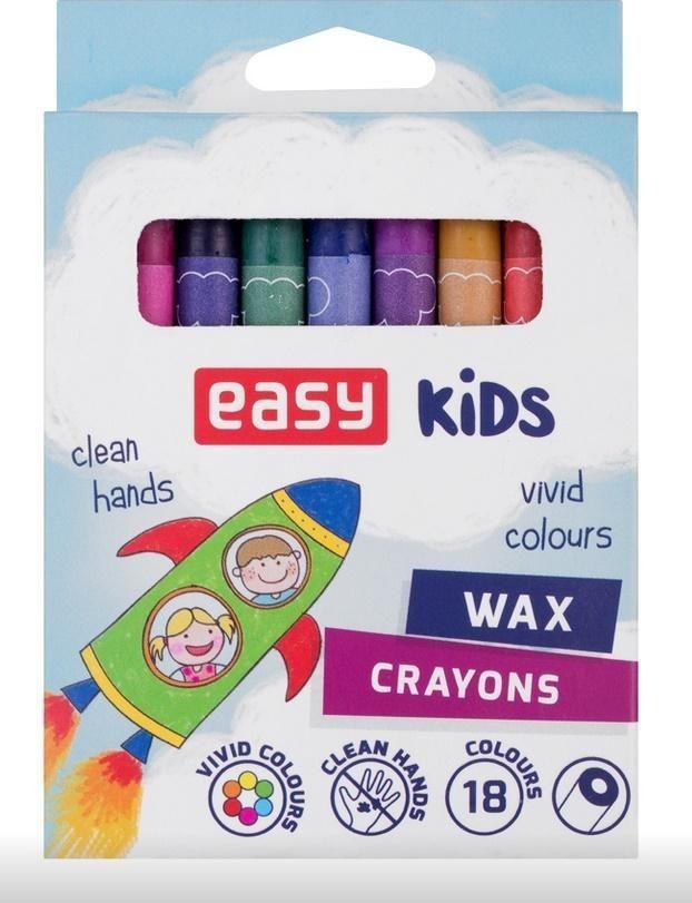 Easy Kredki świecowe 18 kolorów EASY 1