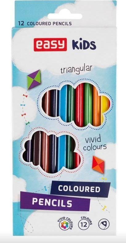 Easy Kredki trójkątne 12 kolorów EASY 1